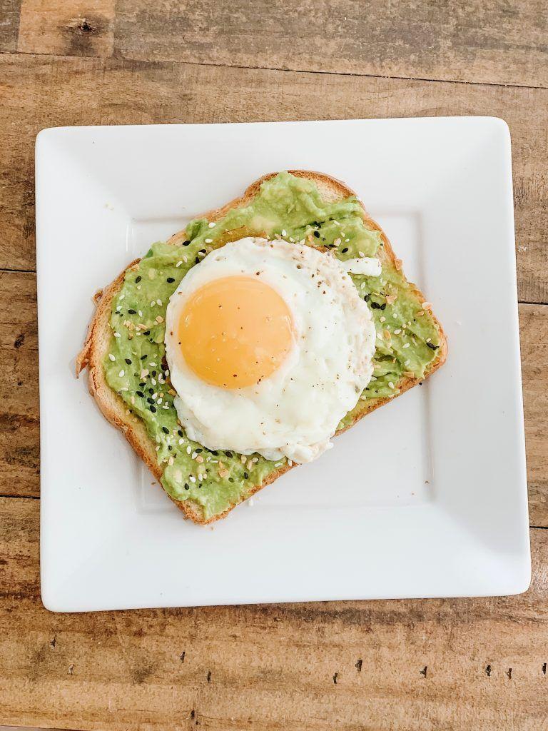 Avocado Toast with a Fried Egg Avocado toast, Food goals