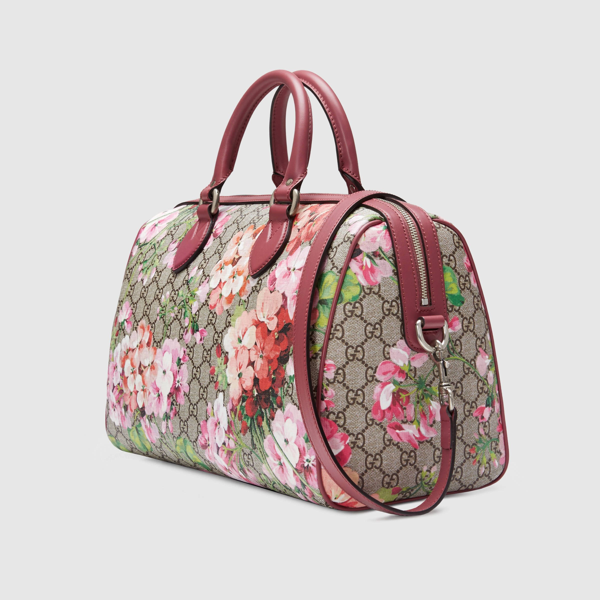 c52c09525bdd Blooms GG Supreme top handle bag - Gucci Women s Top Handles   Boston Bags  409527KU2IN8693