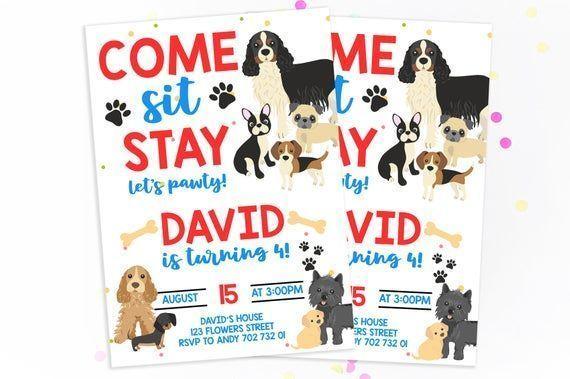 Welpen Geburtstag Einladung junge Geburtstag einladen Hund