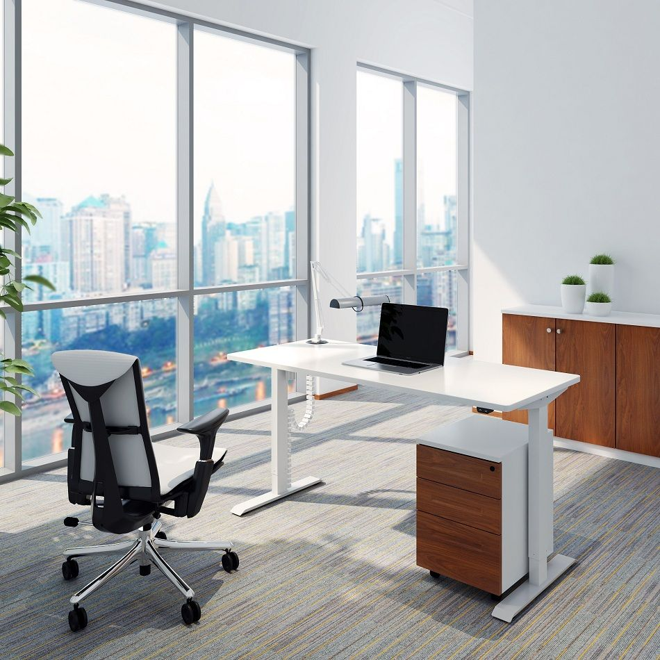 The Single Motor Height Adjustable Desk Et114e N Is The Most Popular Economical Model With Stable Performance And Nice Price It S The Best Choice Forbuyer Who