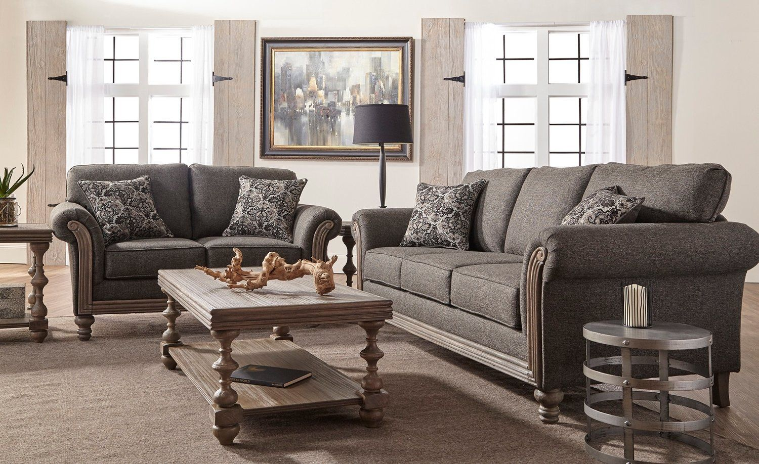 Element Obsidian Sofa and Love Seat Set