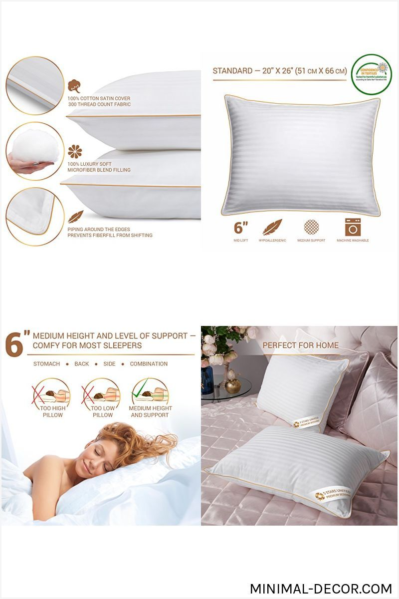 Mainstays 100/% Cotton Extra-Firm Pillow Set of 2 Standard Size