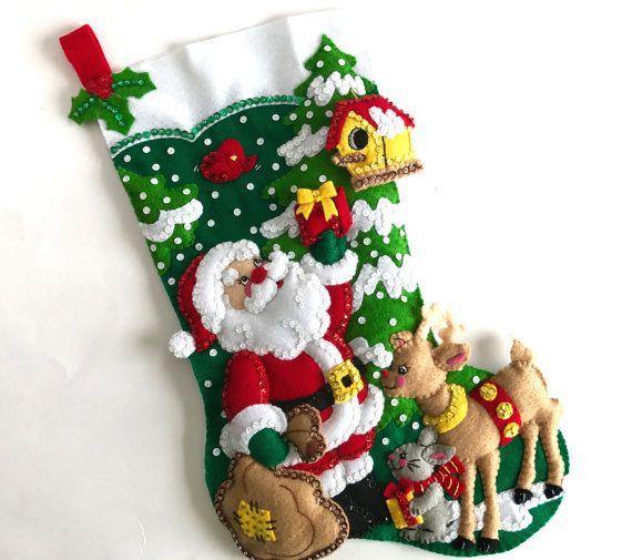 Christmas Stocking Personalized Finished Bucilla Stocking ...