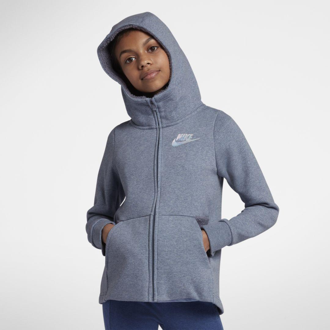 Sportswear Big Kids' (Girls') Full Zip Hoodie | Nike