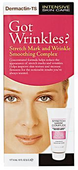 Demactin-TS Intensive Skin Care - Anti-Aging Stretch Mark & Wrinkles Smoothing Complex 6 oz. 2 Pack - CLEAN & CLEAR Morning Burst Shine Control Facial Cleanser Oil-Free 8 oz