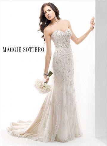Maggie Sottero Janelle Ivory Pewter Wedding Dress 1299 00 Hustle Your Bustle