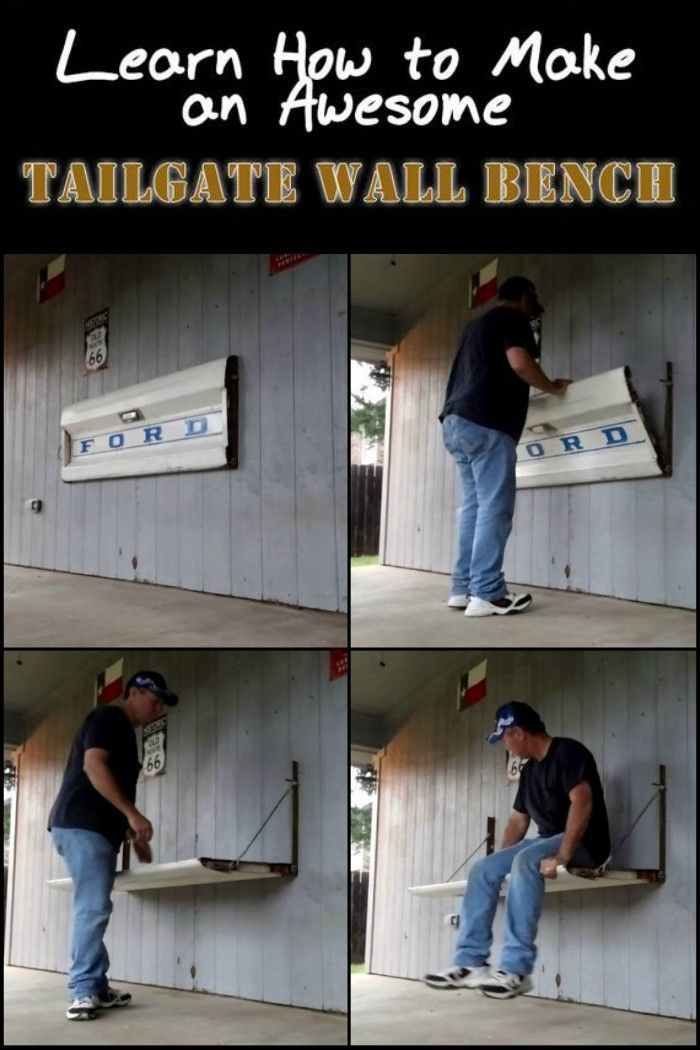 How To Make A Tailgate Wall Bench Wall Bench Tailgating Seating Tailgate