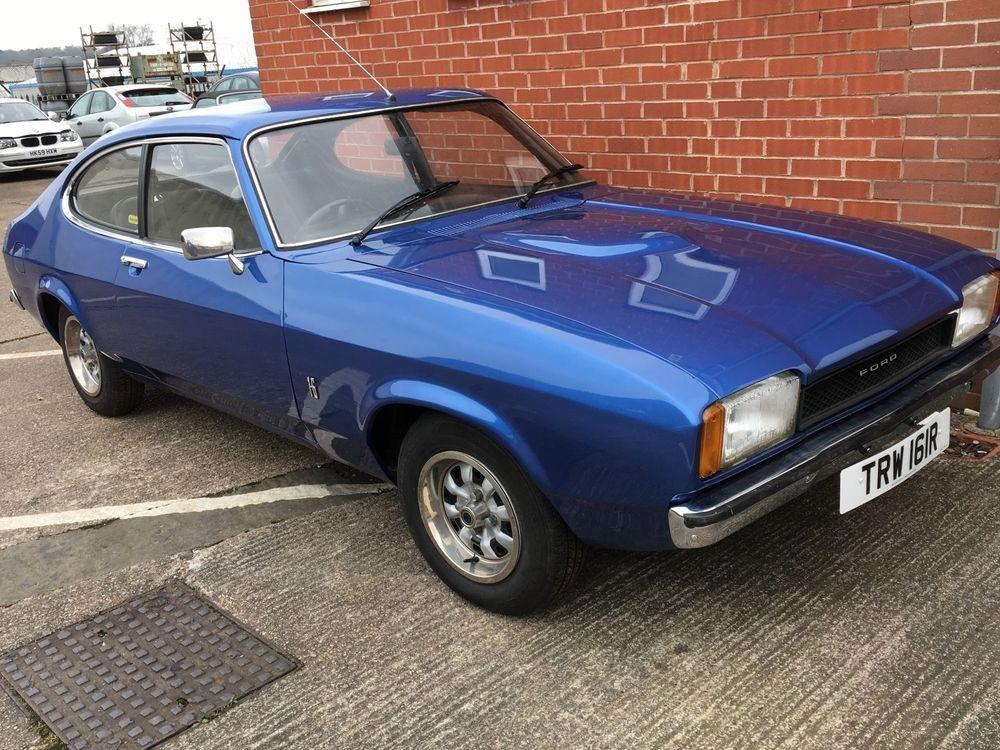 Ebay Ford Capri Mk2 1600l Blue 1977 One Owner From New