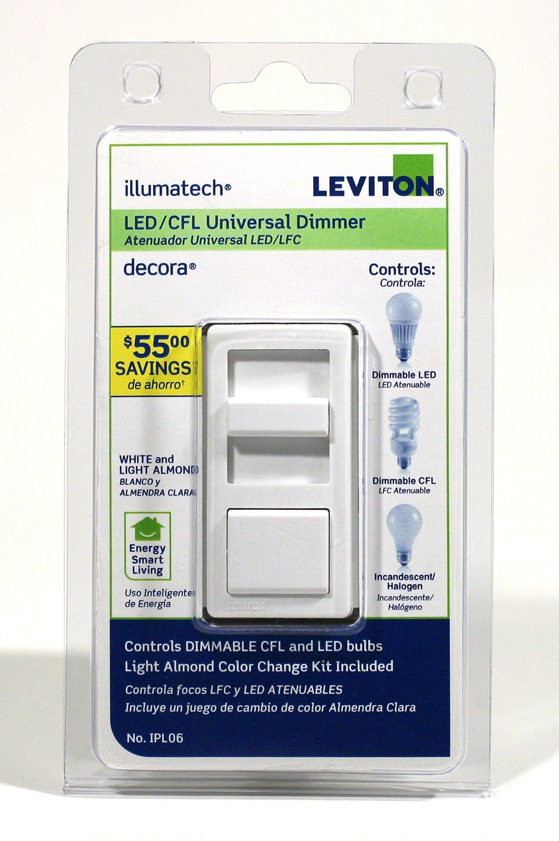 Leviton IPL0610Z IllumaTech Universal 150Watt LED and CFL