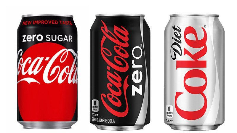 Here S The Difference Between Diet Coke Coke Zero And Coke Zero Sugar Coke Zero Diet Coke Coke