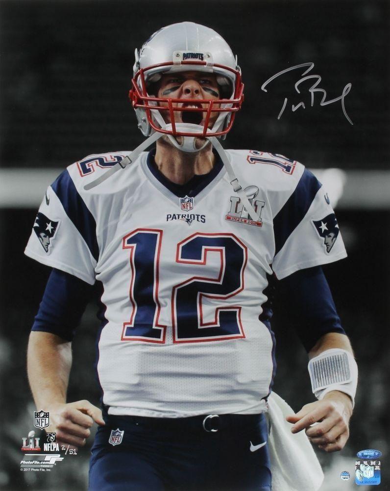 Tom brady autographed super bowl 51 scream 16 x 20