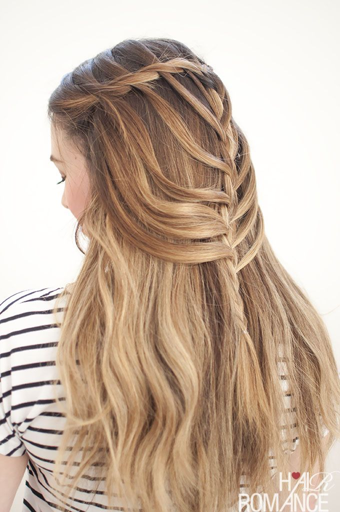 Waterfall Mermaid Braid Tutorial For Long Hair Hair Romance Cool Braid Hairstyles Hair Braid Guide Braided Hairstyles Easy