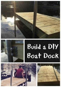 Build a DIY Boat Dock   Boat dock, Boating and Dock ideas
