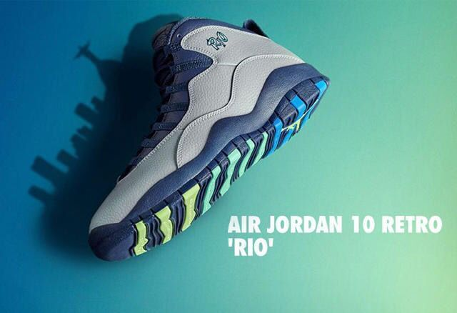 72ba4aedac9 Air Jordan 10 Rio Wolf Grey/Photo Blue-Obsidian-Green Glow 2016 Release –  Hoop Jordan