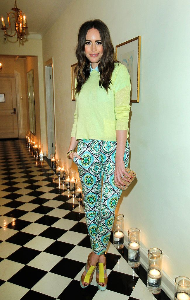 3c2fb67dc3ae1 Louise Roe from Fashion Star. Here are five fresh ways to wear the print  pants trend for spring