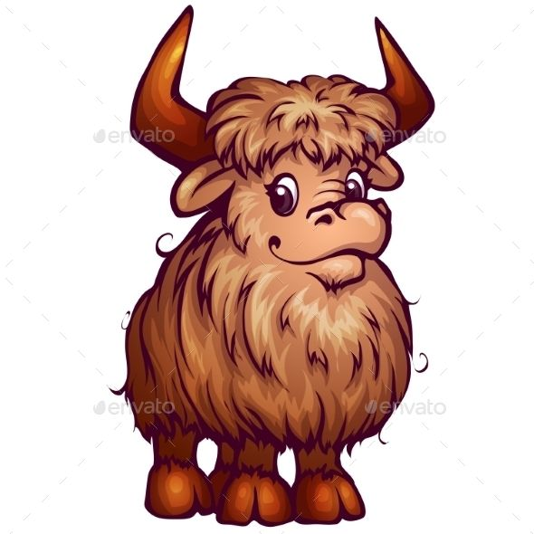 cartoon yak cartoon paintings and illustrators rh pinterest co uk yak images clipart Yak Clip Art Black and White