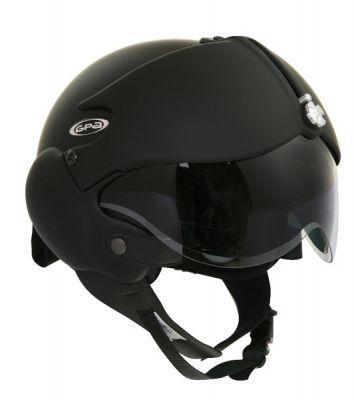 GPA/OSBE Tornado Matt Black Open Face Motorcycle Helmet (Mask £24.99 extra) - from £152.99