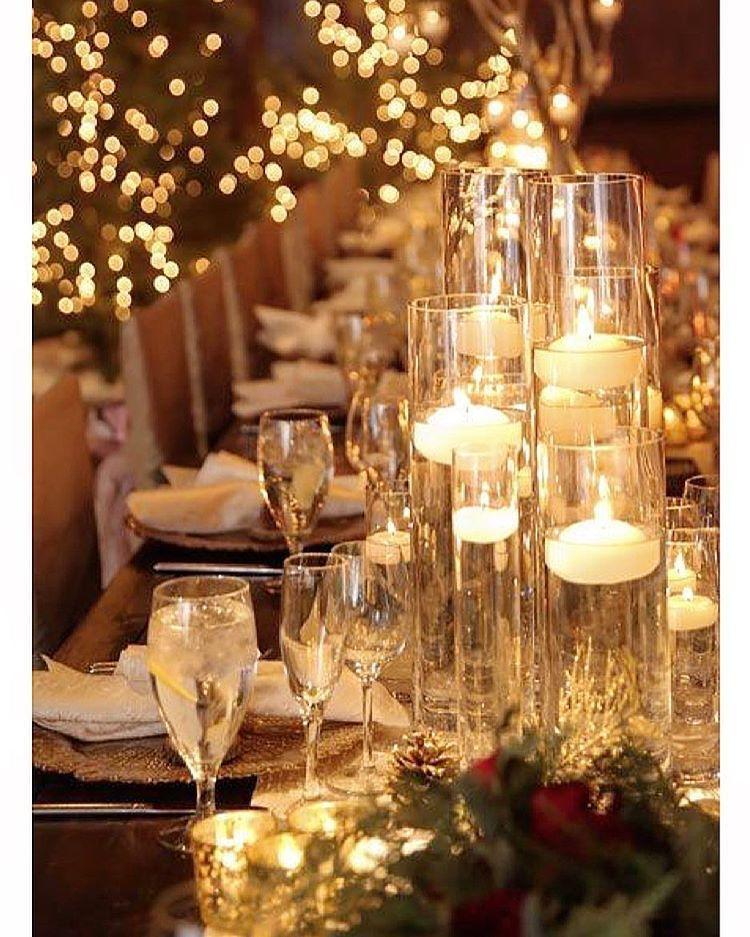 A magia das luzes ✨✨✨✨ Boa Noite ❤️ #christmas #tablesetting #tablescape #noitefeliz