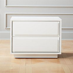 Gallery White 2-Drawer Nightstand + Reviews | CB2 ...