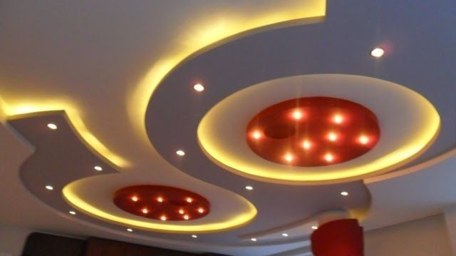Latest Gypsum Board False Ceiling Designs Pictures Catalogue For Living Room