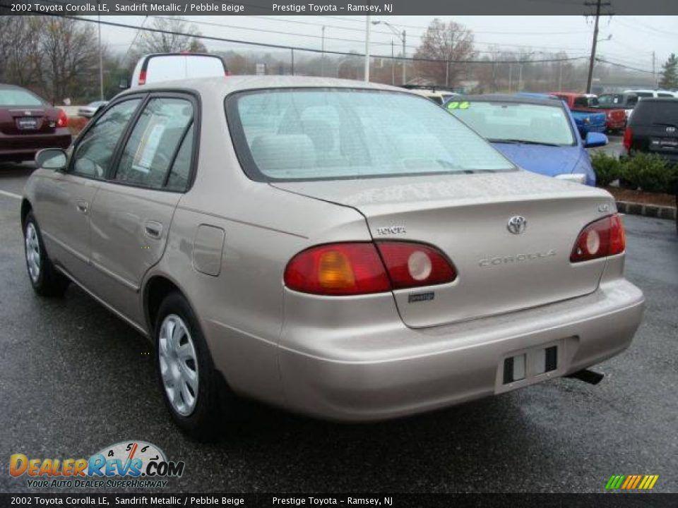 2002 Toyota Corolla | 2002 Toyota Corolla LE Sandrift Metallic / Pebble  Beige Photo #4