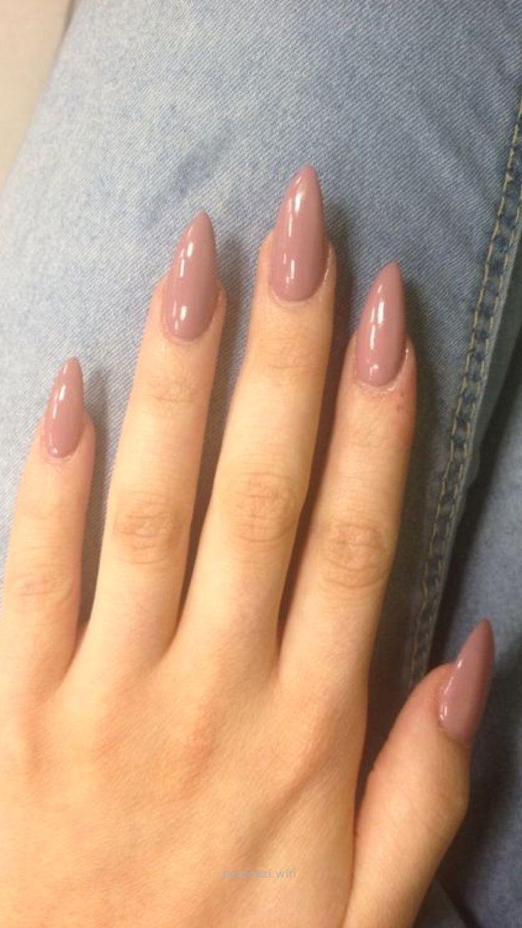 Oval shaped long acrylic pink nails…   Acrylic   Pinterest