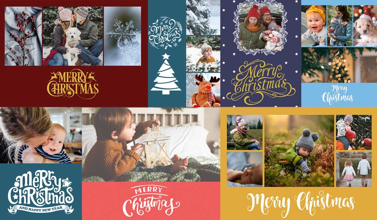 Christmas Card Psd Templates For Photographers Slr In Holiday Card Templates For Photographers In 2020 Holiday Card Template Christmas Card Template Business Holiday Cards