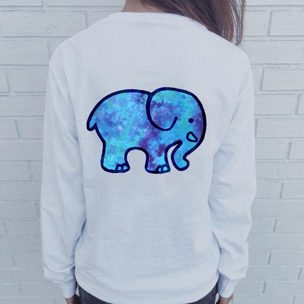 Ivory ella elephant galaxy tshirt galaxy sweatshirt ivory and