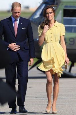 princess diana in calgary   Gust Of Wind Blows Kate Middleton's Dress Up & Still Keeps It Classy