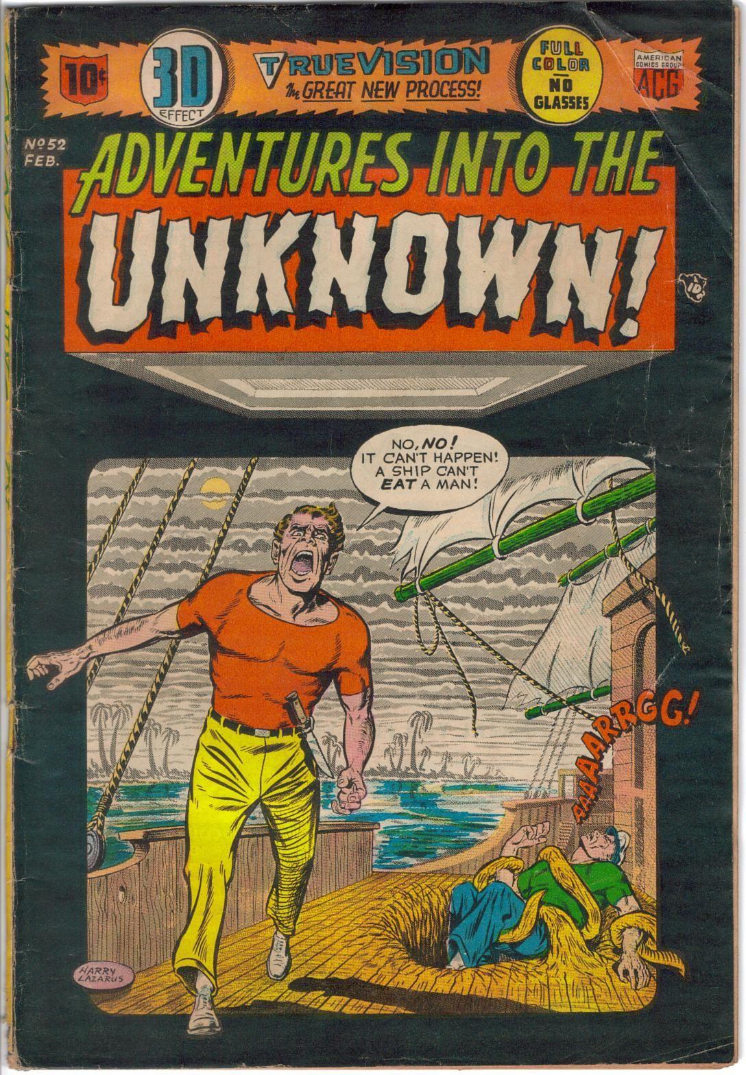 Adventures into the unknown comic books comics comic