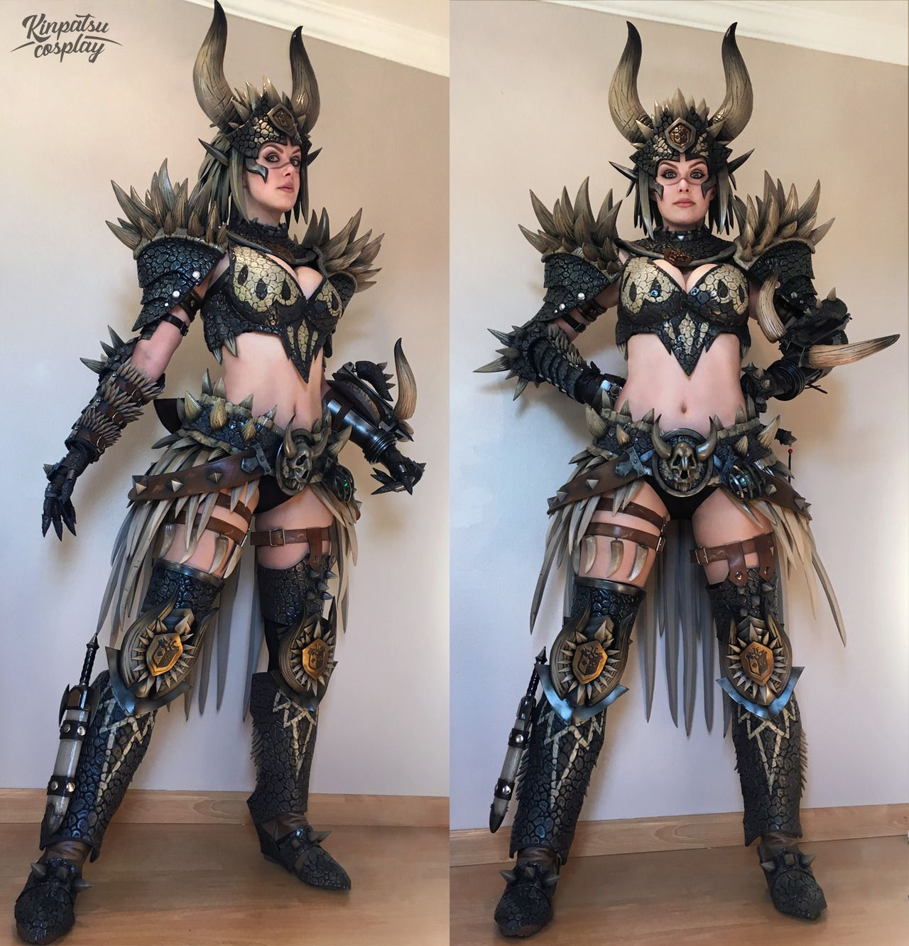 kinpatsu cosplay — nergigante monster hunter armor! | love girls in