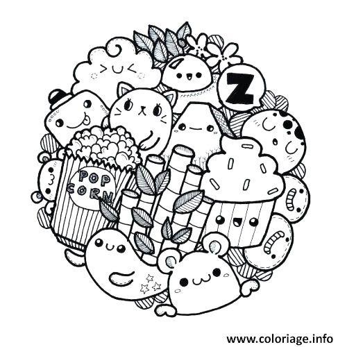 Coloriage Info Kawaii.Coloriage Licorne Coloriage Mandala Licorne A Imprimer