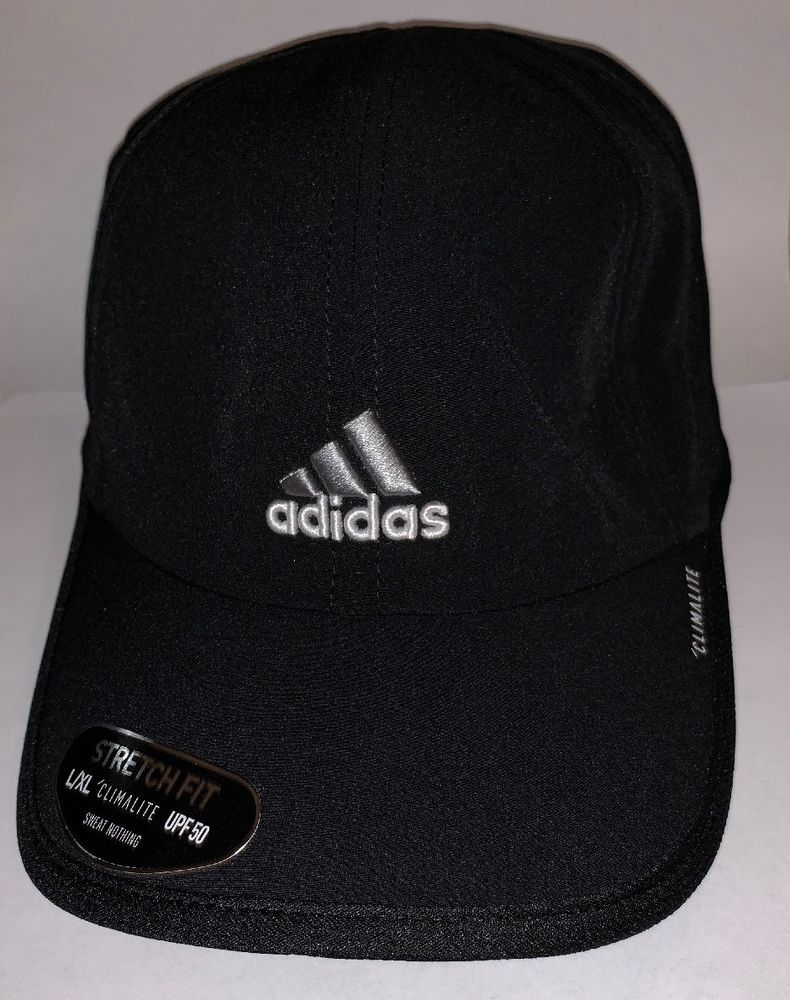 c7e6d6ef8b0b4 Adidas Mens Stretch Fit Cap Black L XL Climalite UPF50  fashion  clothing   shoes  accessories  mensaccessories  hats (ebay link)