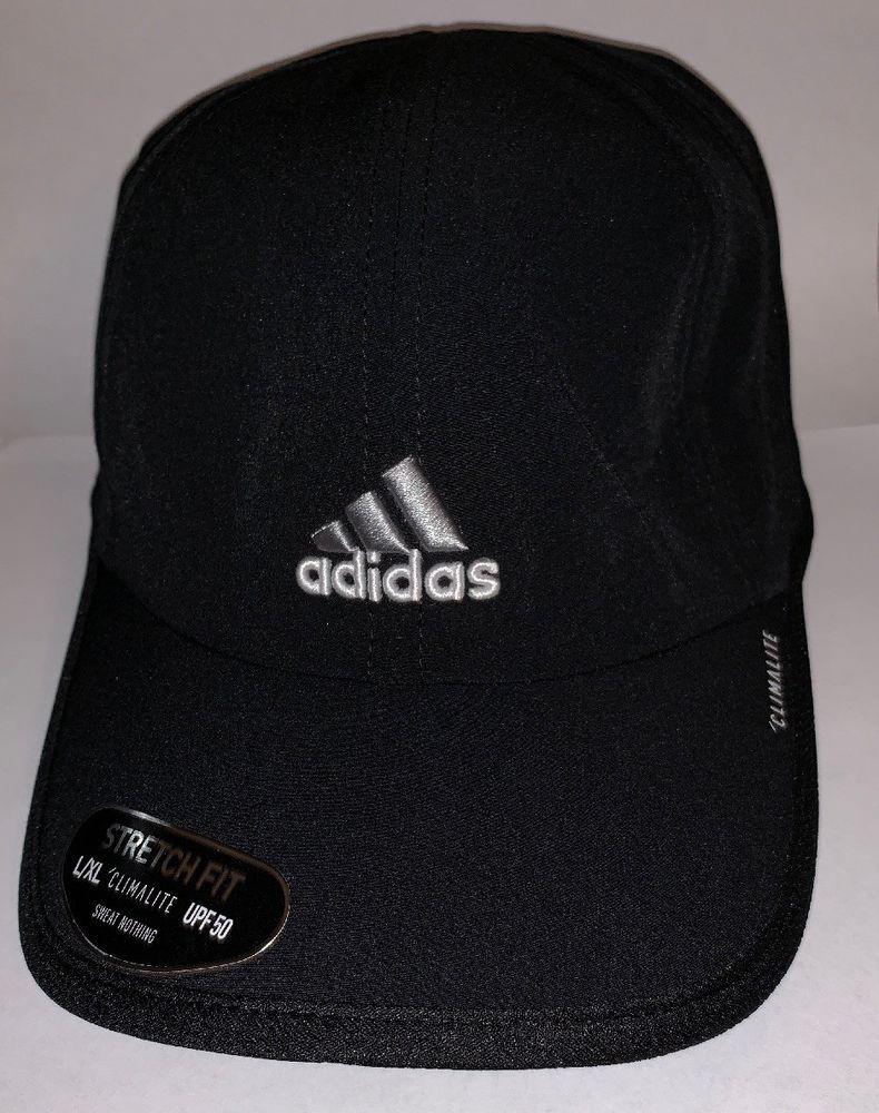Adidas Mens Stretch Fit Cap Black L Xl Climalite Upf50 Fashion Clothing Shoes Accessories Mensaccessories Hats Adidas Men Fitted Caps Unisex Accessories