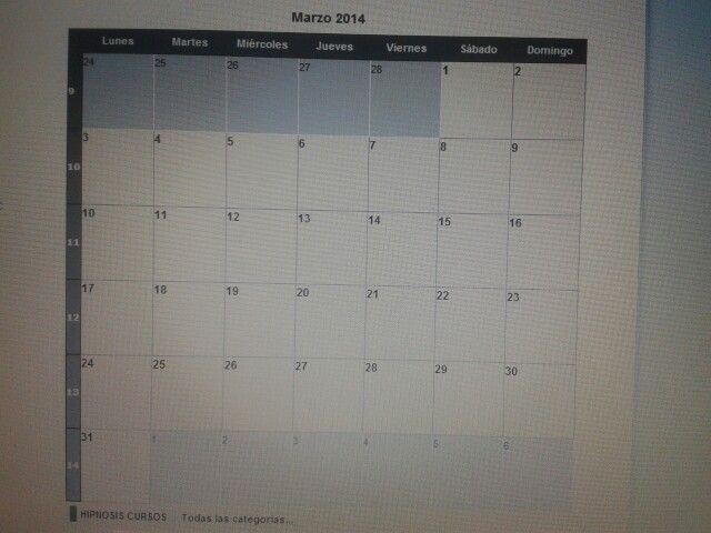 en el mes de marzo 2014 no se impartira clases en ninguna de las categorias.