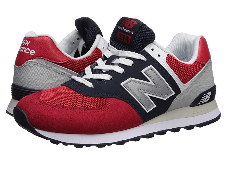 check out d2795 3bf2d New Balance Classics 574v2-USA Men's Shoes Team Red/Pigment ...