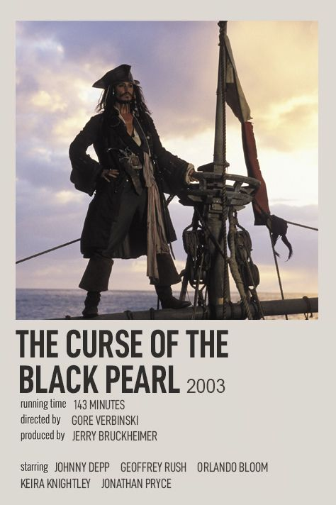 THE CURSE OF THE BLACK PEARL POLAROID MOVIE POSTER