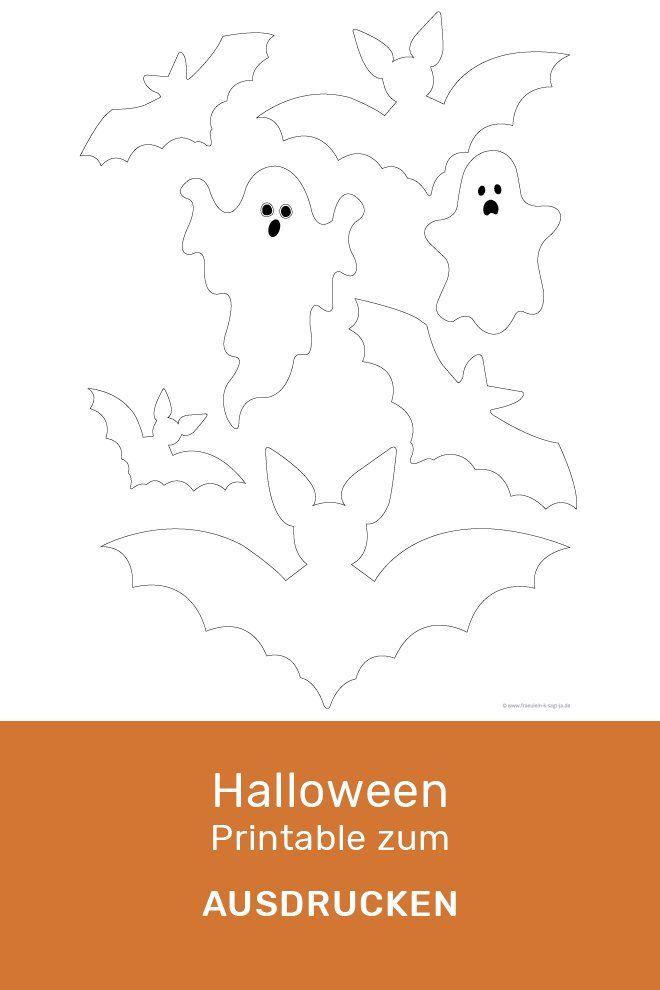 Halloween DIY Bastelvorlage zum Ausdrucken