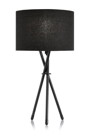 Buy black chrome tripod table lamp from the next uk online shop buy black chrome tripod table lamp from the next uk online shop mozeypictures Image collections