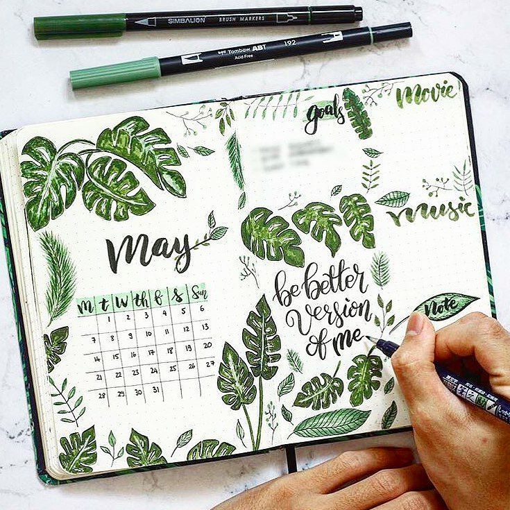 "The Dreamy Place on Instagram: ""May is here ! How cute is this tropical vibes monthly page ? � By @henryphung . . . Check out our tropical vibes collection � and much more…"""