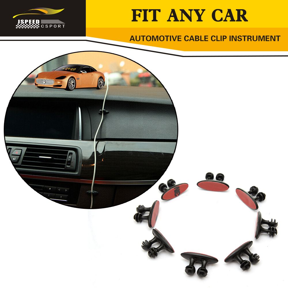 8pcs Vehicle Wire Clip Car Styling Fixed Clamp Automotive Cable Wiring Supplies Instrument Panel