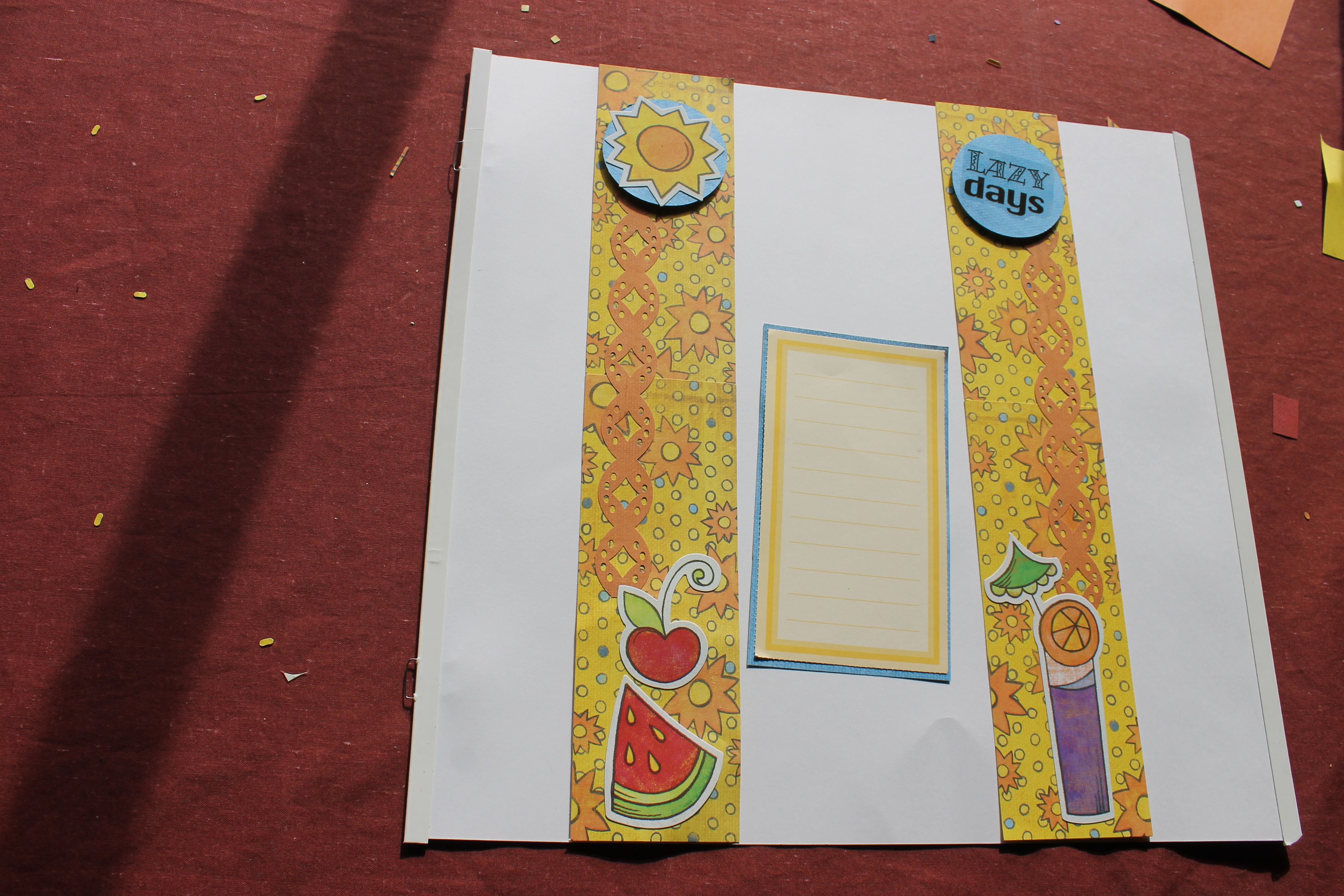 Scrapbook border ideas - Primary Summer Paper And Stickers