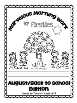 Marvelous Morning Work for Firsties: FREE August Preview {