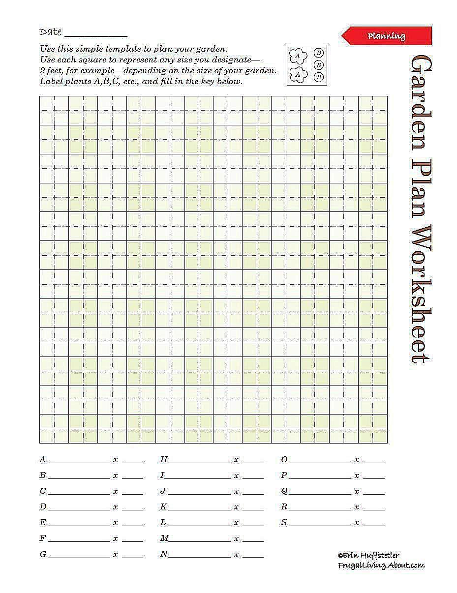 Printable Garden Plan Worksheet Gardeningandlandscaping Free Garden Planner Garden Notebook Garden Planner