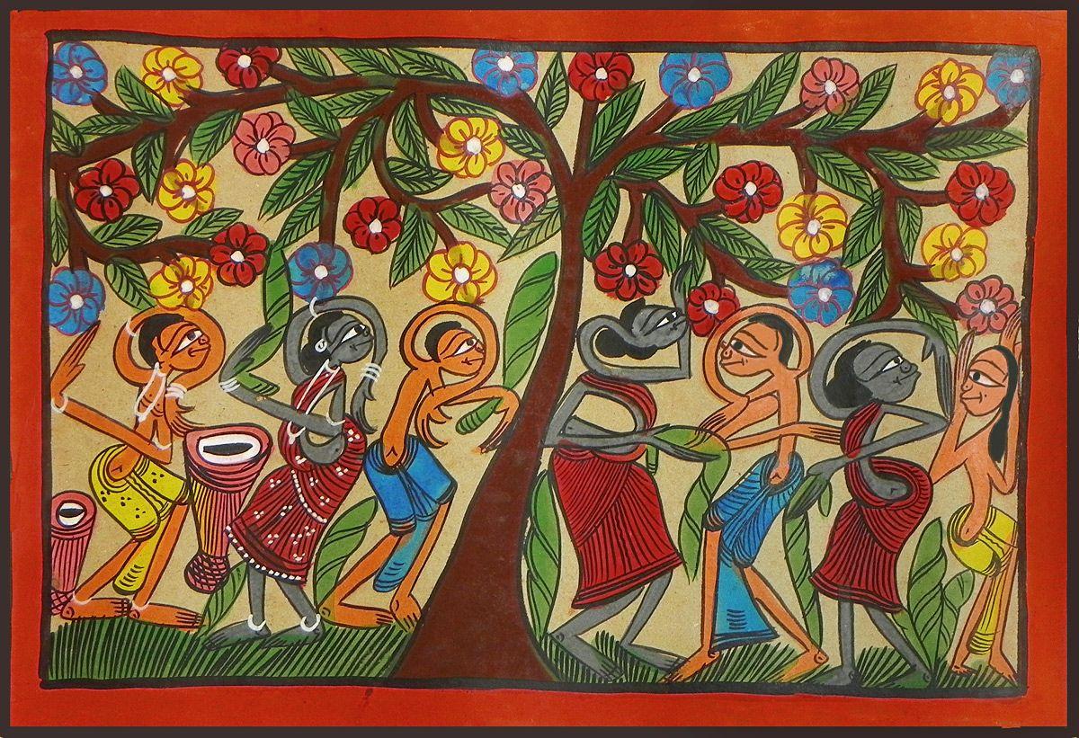 18 Santhal painting ideas | painting, indian folk art, madhubani painting