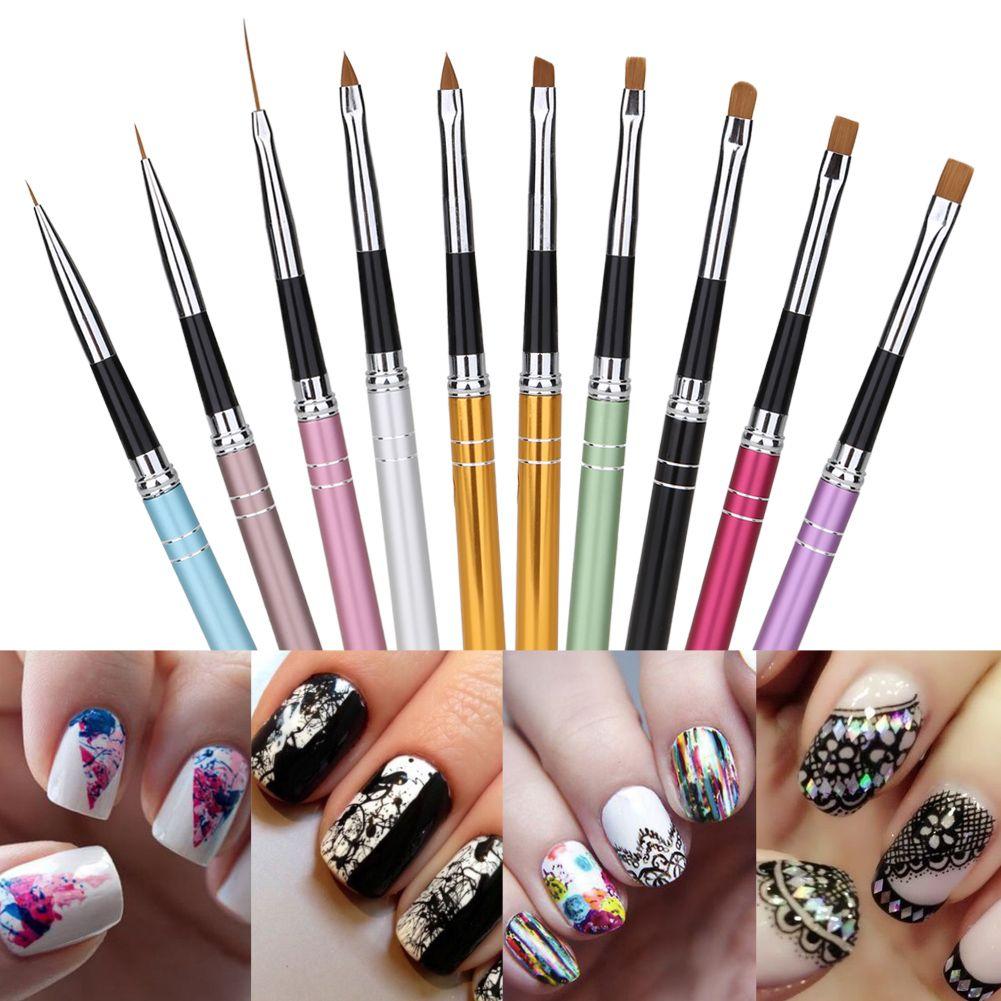 10pcs Nail Art Brush Painting Pen Professional Nail Art Design