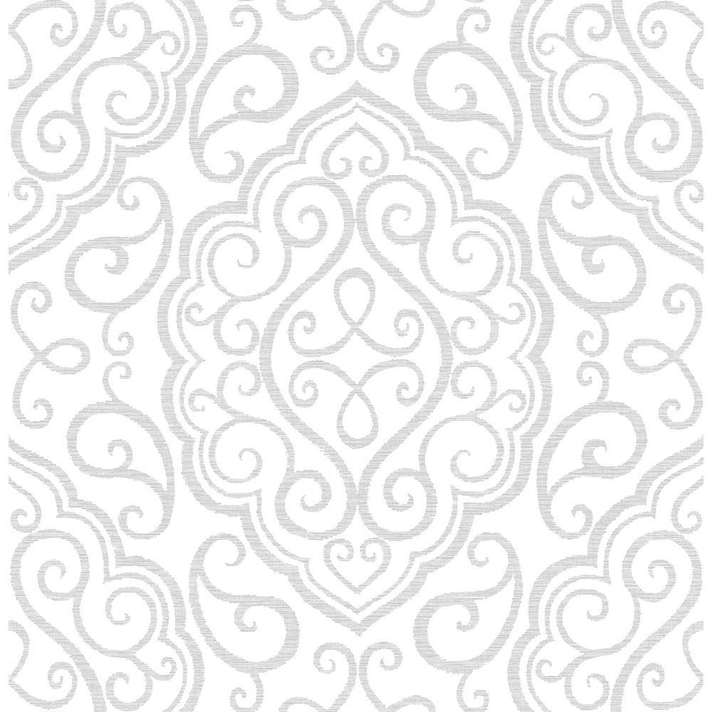 Heavenly Dove Damask Wallpaper Sample