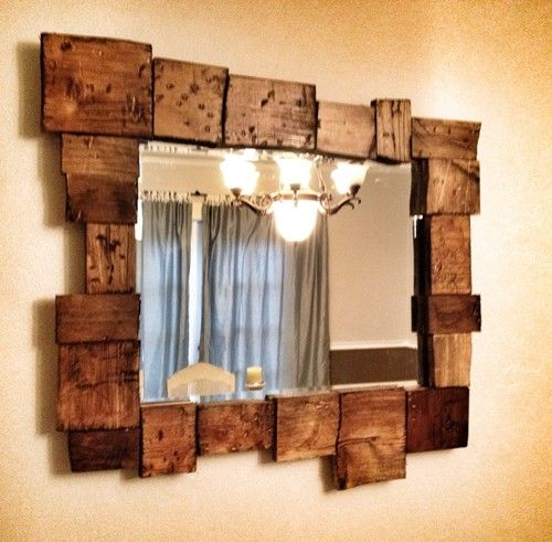 rustic mirror but different color wood