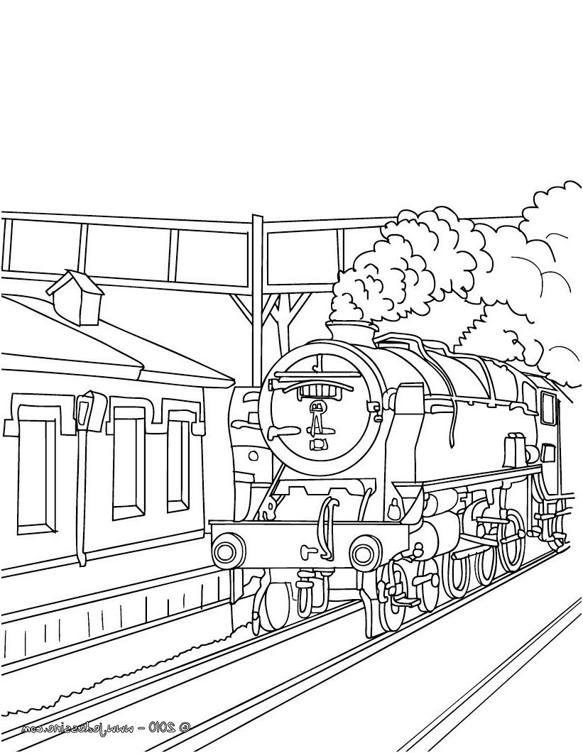 14 Incroyable Coloriage Locomotive Images Train Coloring Pages