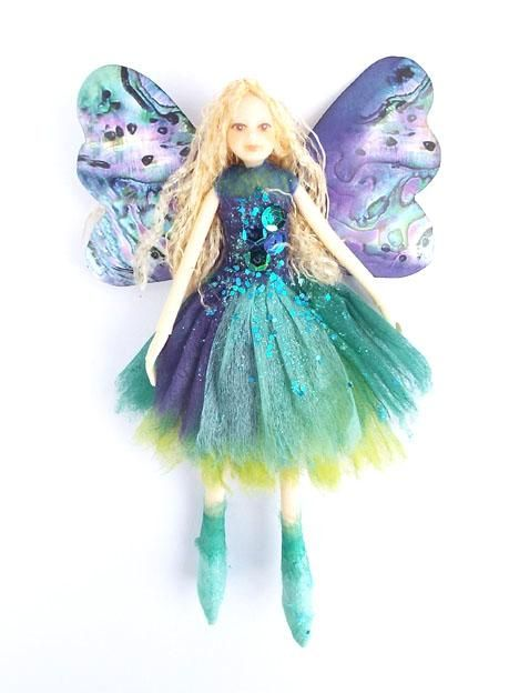 2016 Nz Teal Paua Fairy Doll Fairy Dolls Christmas Fairy Fairy